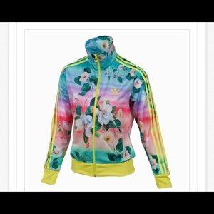 🆕Beautiful floral Adidas track jacket